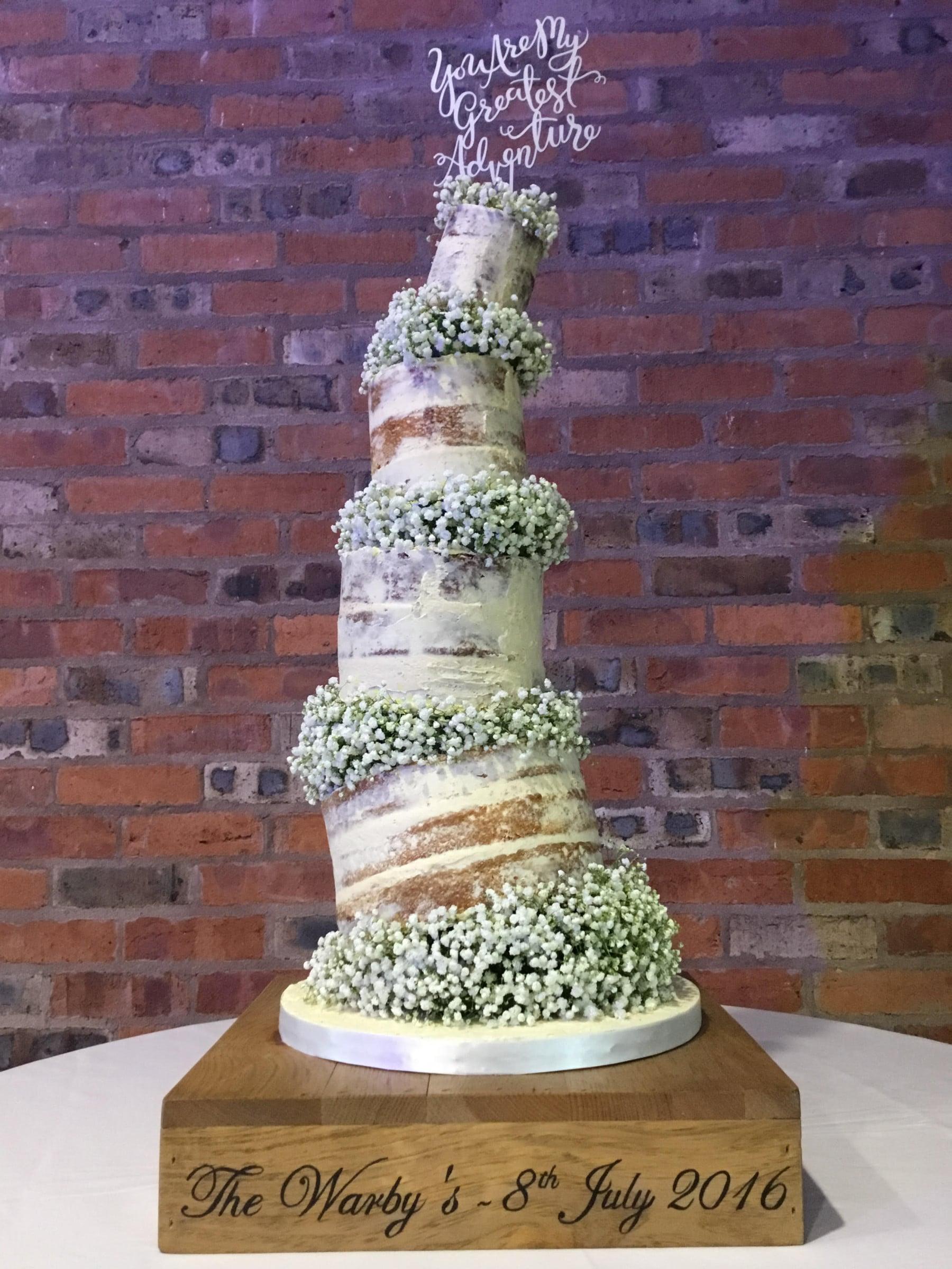 Buttercream Wedding Cakes.The Rise Of Naked Wedding Cakes Colshaw Hall