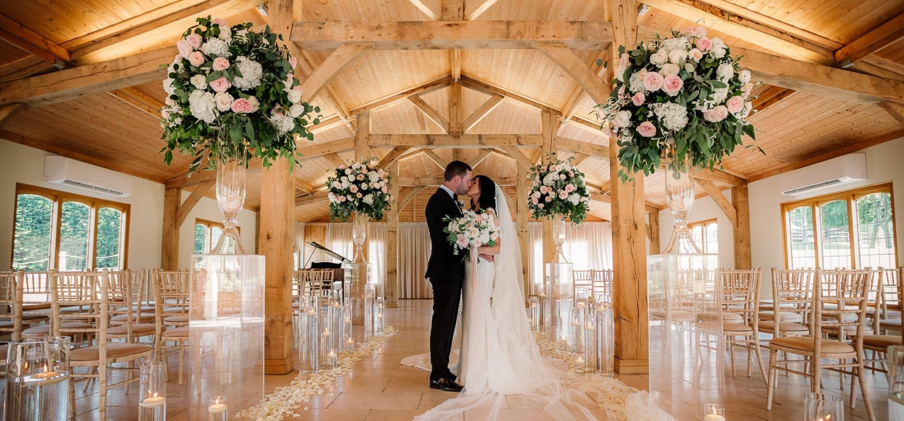 The Ceremony In The Stables Wedding Venue Cheshire Colshaw Hall