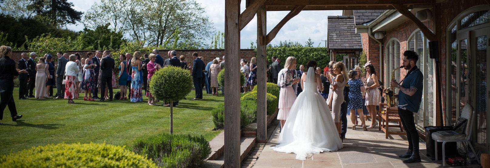 Walled Garden Wedding Reception