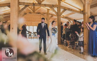 Couple getting married at Colshaw Hall
